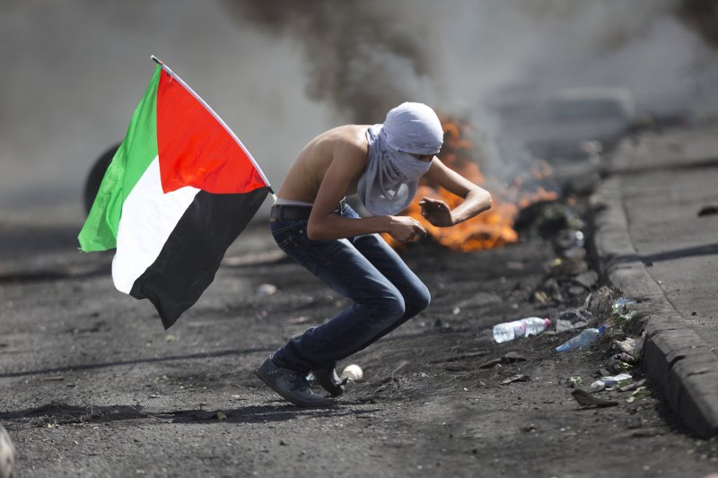 巴勒斯坦青年與以色列軍警的暴力衝突愈演愈烈(美聯社)