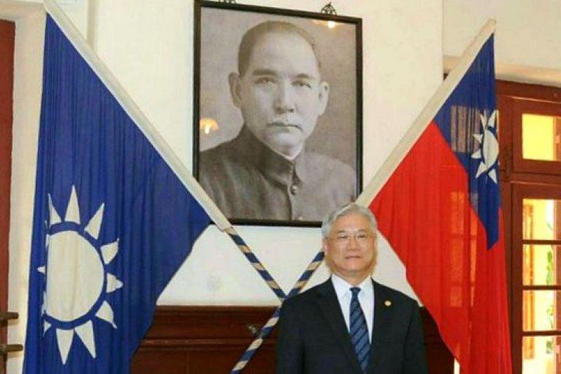 夏立言在參觀途中受訪時表示: 「可以看到我們的中華民國國旗覺得很高興。」(BBC中文網)