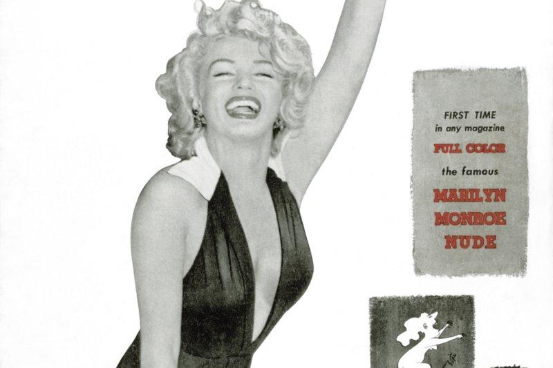 可能是最著名的《花花公子》封面女郎:瑪麗蓮夢露。(美聯社)