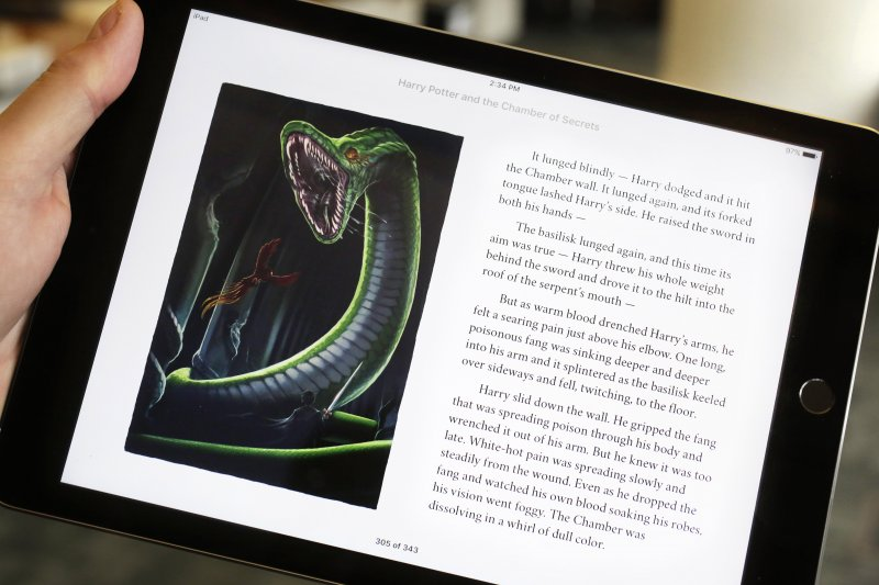 蘋果iPad上的《哈利波特》(美聯社)