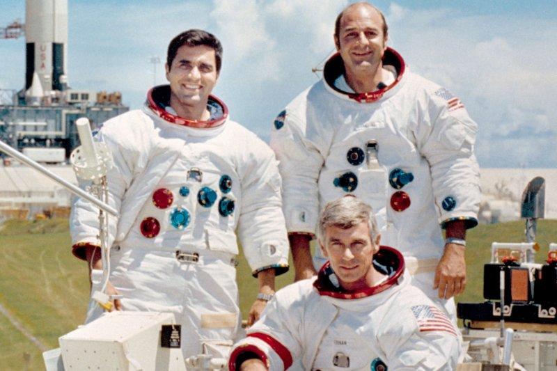 阿波羅17號任務的3位太空人(維基百科)