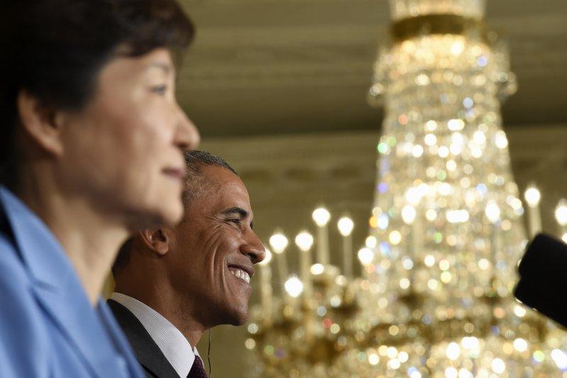 朴槿惠與歐巴馬。(美聯社)