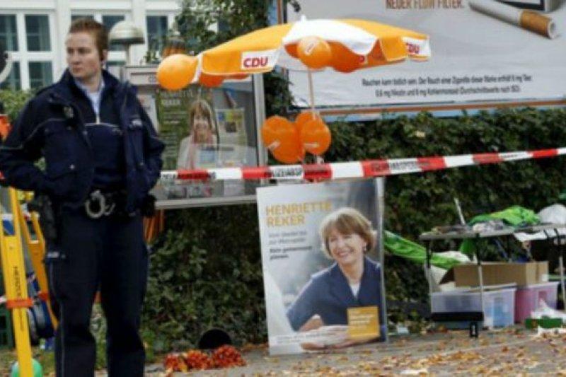 德國科隆市長參選人雷克爾女士17日在競選活動中受到了攻擊。(BBC中文網)