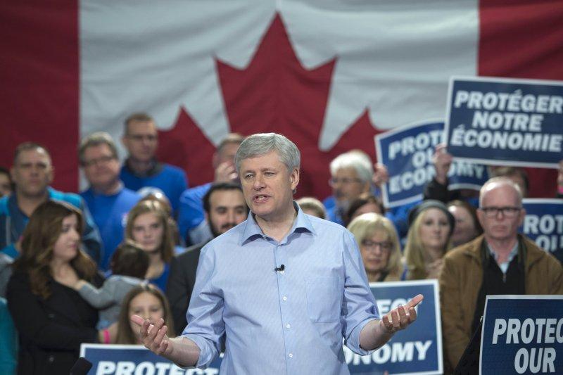 加拿大保守黨(Conservative Party)領導人、現任總理哈珀(Stephen Harper)(美聯社)