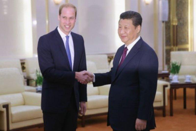 今年初,威廉王子在訪問中國期間,曾在北京向習近平提到象牙走私問題。(BBC中文網)