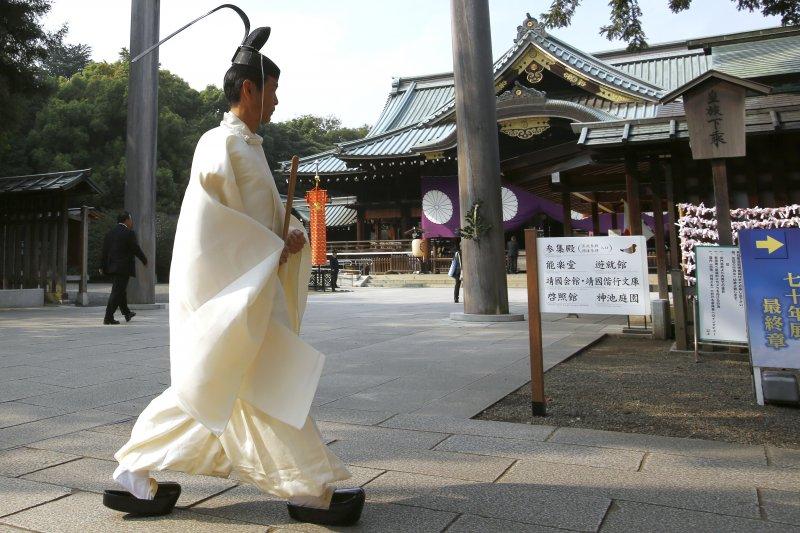 靖國神社2015年秋祭(美聯社)
