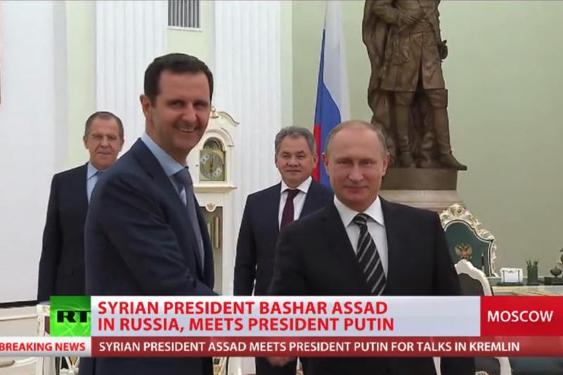 阿塞德20日突然訪問莫斯科,與普京討論敘利亞內戰與伊斯蘭國的恐怖分子威脅。