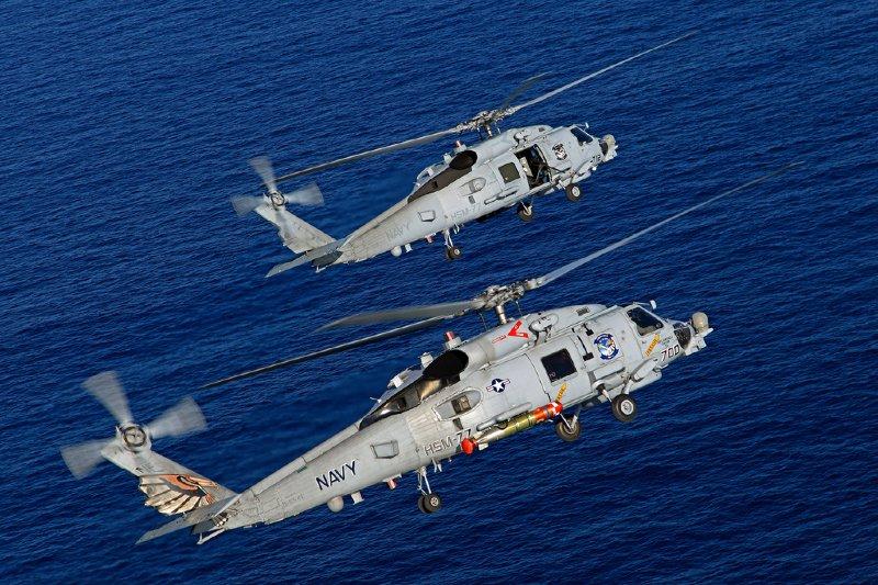 我國海軍有意採購MH-60R海鷹反潛直升機(見圖),以取代服役近40年的500MD反潛直升機。(取自www.sikorsky.com)