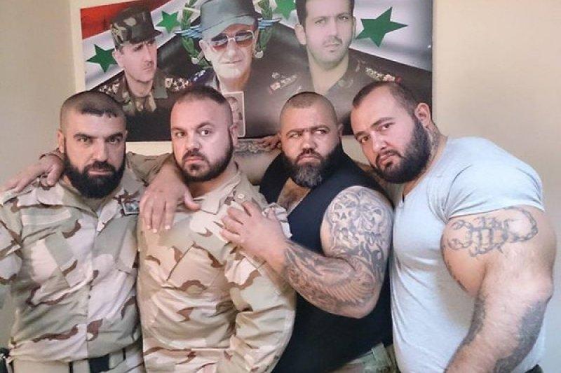 伊斯蘭語稱「沙比哈」的敘利亞秘密警察,效忠總統阿塞德,現傳出冒充難民混入德國,意圖不明。(取自推特)