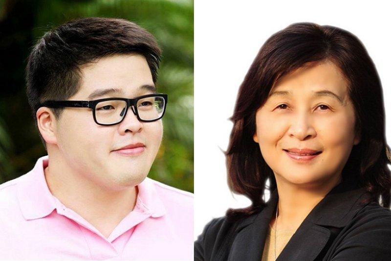 雲林縣一選區兩位參選人:張鎔麒(左,國民黨)和蘇治芬(右,民進黨)。(取自臉書)
