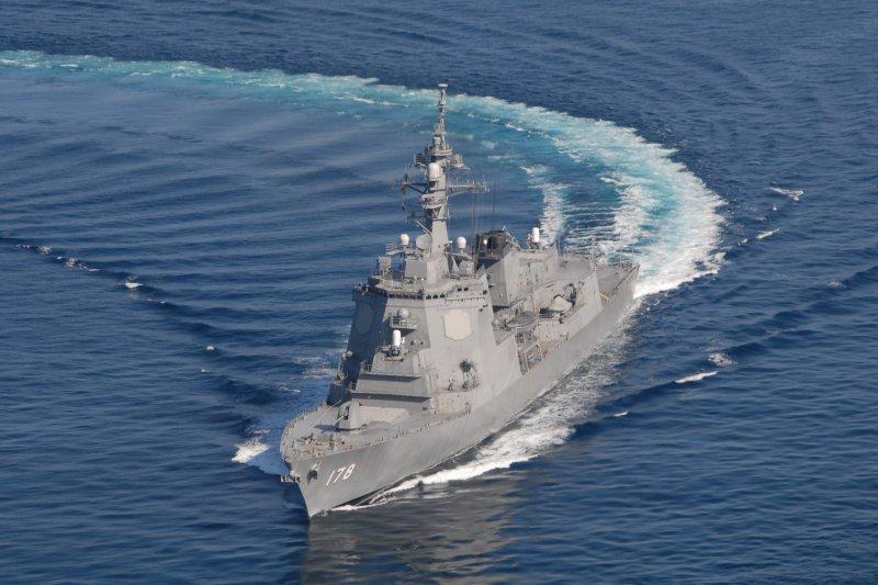 日本海上自衛隊的愛宕級護衛艦足柄號。(翻攝日本海自官網)