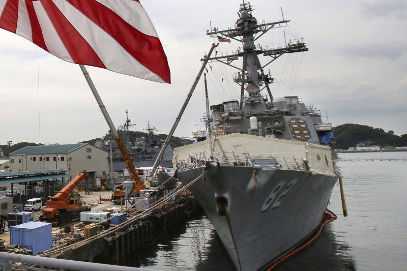 美國海軍飛彈驅逐艦「拉森號」(USS Lassen)(美聯社)