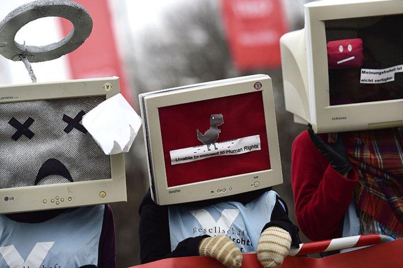 「自由之家」報告出爐,中國成為網路自由倒數第一。(取自網路)