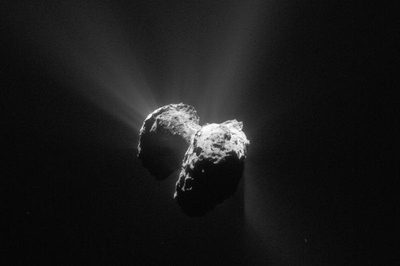 彗星「67P/楚留莫夫─格拉希門克」(67P/Churyumov-Gerasimenko,簡稱67P)(美聯社)