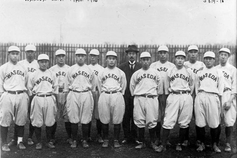 1916年的早稻田大學棒球隊。(圖/維基百科)