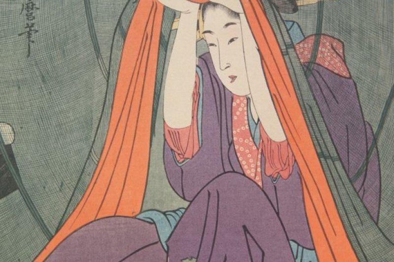 浮世繪在西方的高度評價裏,包括它的構圖和捕捉生活瞬間的姿態(資料照片)。(BBC中文網)