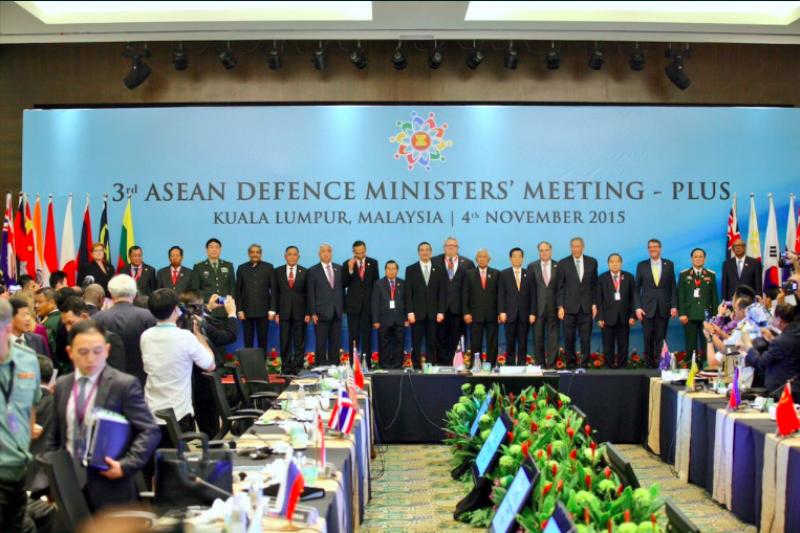 東協國防部長擴大會議現場照片。(取自Twitter)