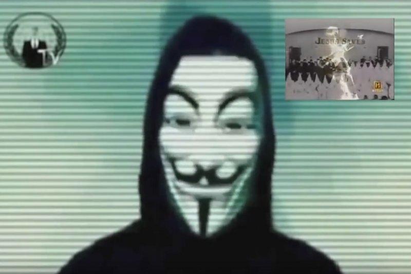駭客組織「匿名者」公布「3K黨」成員名單。(取自YouTube)