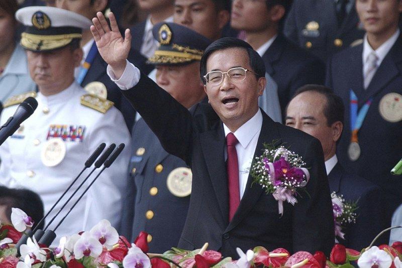 儘管陳水扁與中國國家主席江澤民之間互不信任,但都採取「聽其言、觀其行」的態度,曾經試圖打破僵局、開始對話,只是終究功虧一簣。(資料照,總統府)(美聯社)