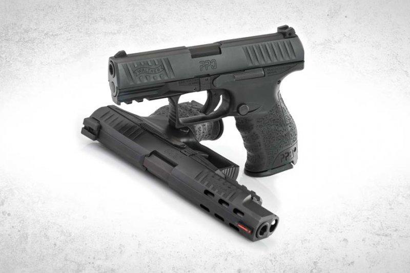 德國卡爾.華瑟公司生產的Walther PPQ M2九公厘半自動手槍未加裝手動式保險裝置,警政署必須重新教育警察改變用槍習慣,以免發生走火誤擊。(取自www.waltherarms.com)