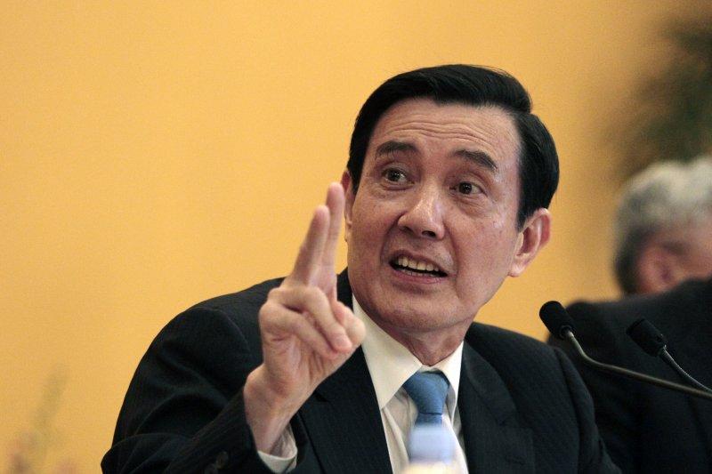 2015年11月7日馬習會,馬英九總統主持記者會(美聯社)