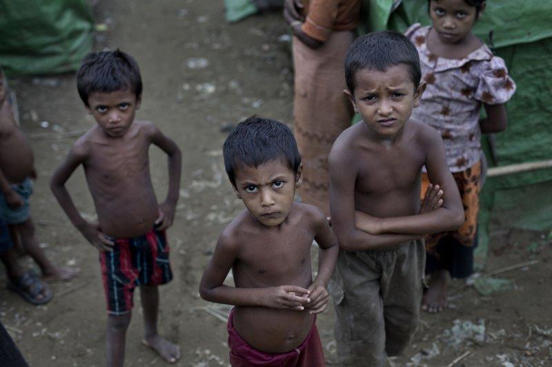 緬甸飽受迫害的羅興亞人(美聯社)