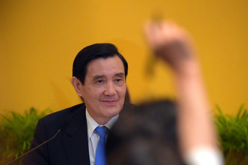 2015年11月7日馬習會,馬英九總統親自主持會後記者會。(美聯社)