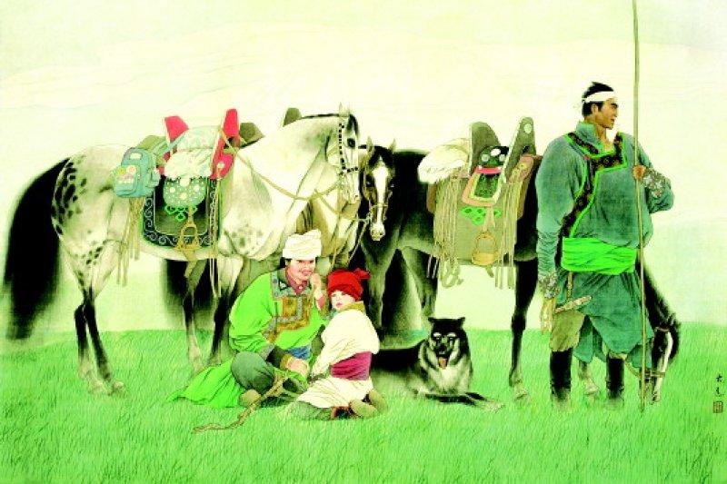 馬背上的民族 劉大為作品(圖取自:齊文化博物院中國官方網站)