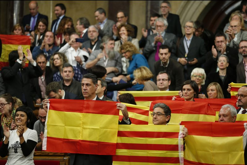 加泰隆尼亞議會9日通過草案,2017年啟動獨立程序。(美聯社)