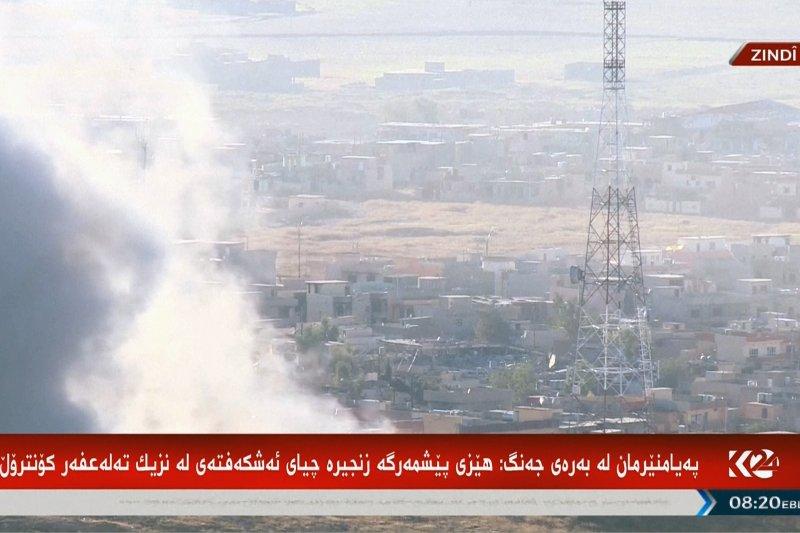 伊拉克庫德族安全部隊「敢死軍」(Peshmerga)12日反攻恐怖組織「伊斯蘭國」佔據的戰略重鎮辛賈爾(Sinjar)(美聯社)