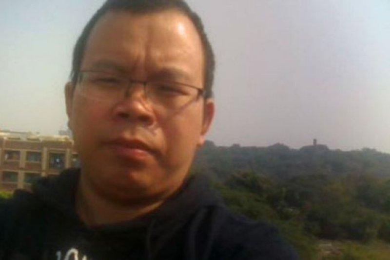 前中國媒體記者李新。(BBC中文網)