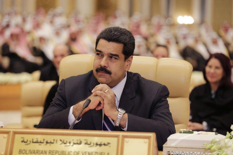 委內瑞拉總統馬杜洛正在沙烏地阿拉伯參加高峰會(美聯社)