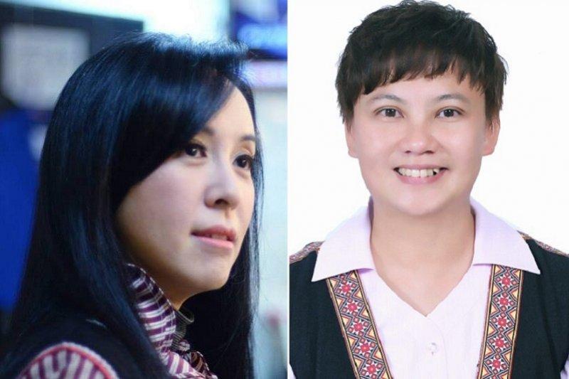 平地原住民民進黨提名陳瑩(左〉,和親民黨提名的林昊宜要搶下一席,陳瑩勝率高。(取自臉書)