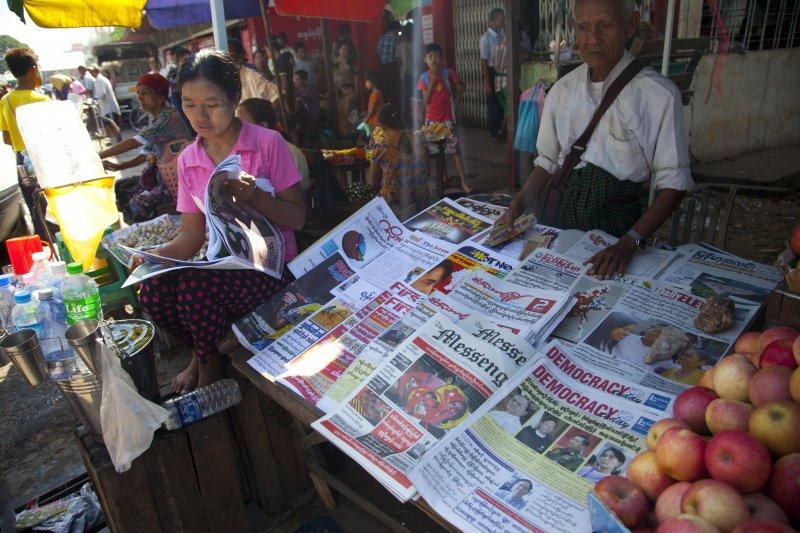 緬甸媒體大幅報導國會選舉(美聯社)
