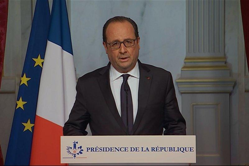 巴黎恐怖攻擊,法國總統奧朗德(François Hollande)(美聯社)