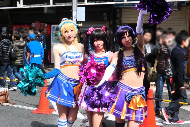 日本橋街上可常見cosplay愛好者