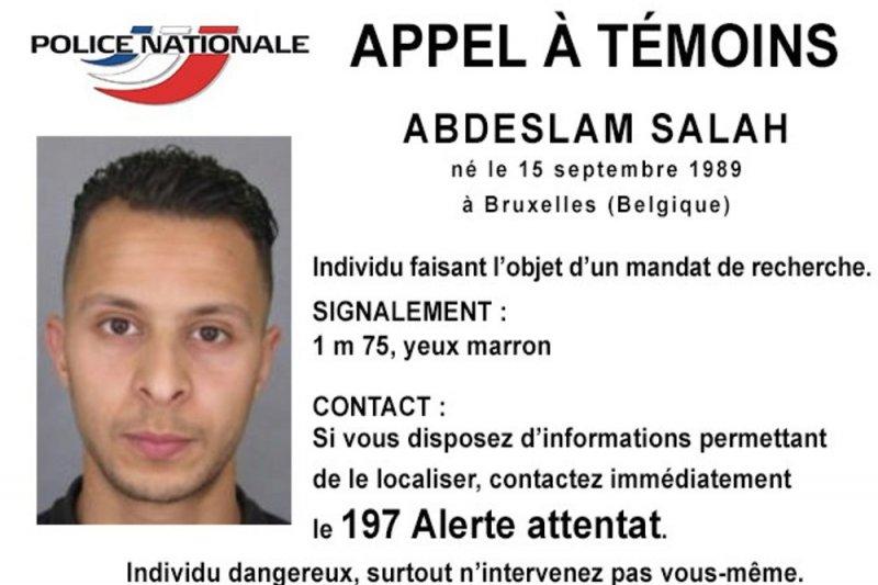 警方正在追捕的法國嫌犯薩拉赫。(美聯社)