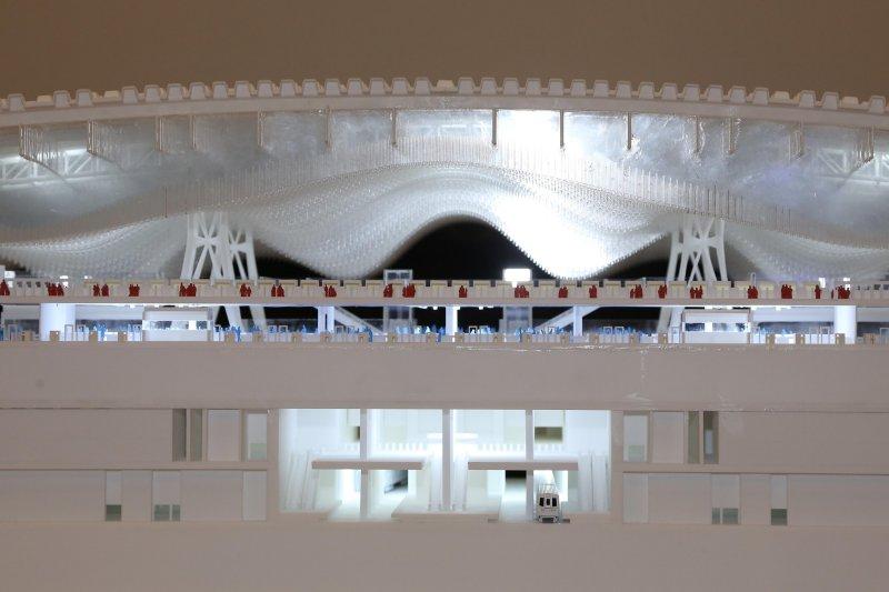 桃園機場第三航廈國際競圖得獎作品展覽及研討會,將展出設計圖面、模型作品及作品3D多媒體動畫。(圖/桃園機場)