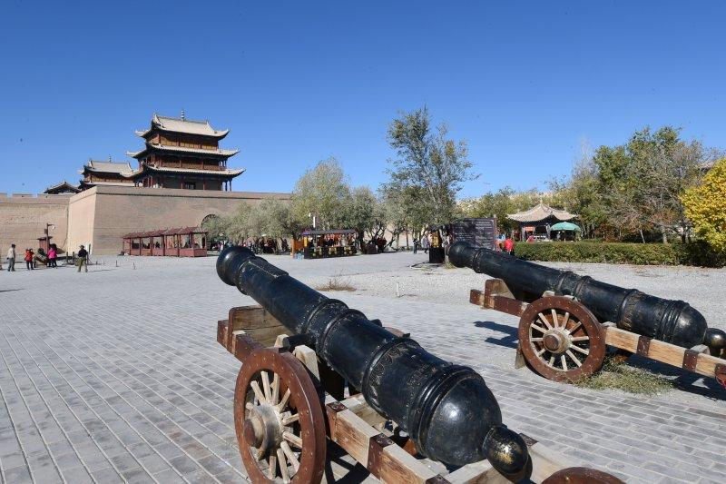 長城,保護修繕後的嘉峪關關城內景(新華社)