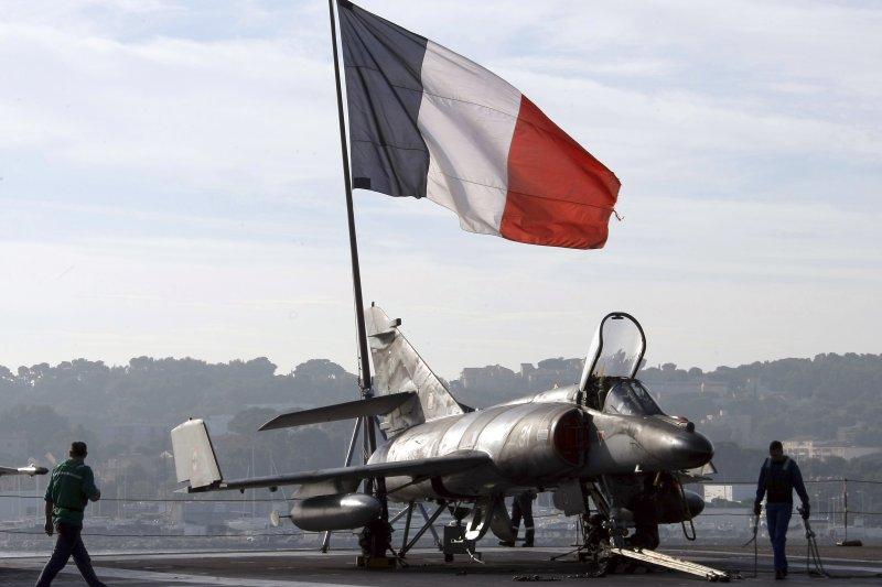 「超級軍旗」(Super-Etendard)攻擊機。(美聯社)