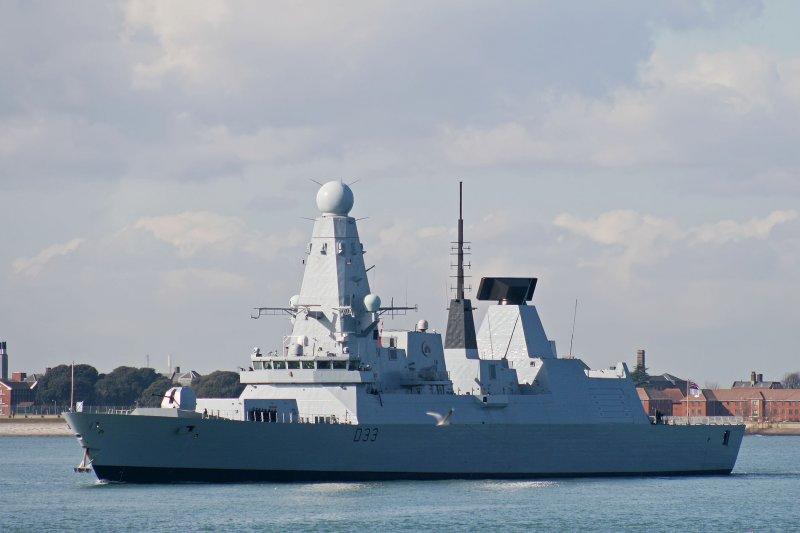 英國皇家海軍45型驅逐艦,圖為英軍派往敘利亞外海的同型艦。(維基百科)