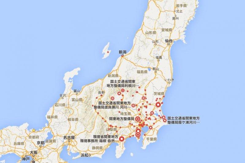 日本關東地區。(翻攝Google地圖)