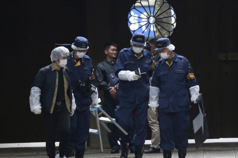 2015靖國神社男廁爆炸。(美聯社)