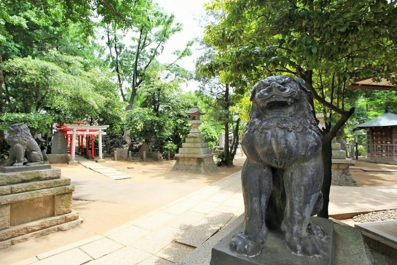 去過日本玩的人應該都看過神社前看起來像獅子或是狗的神像,牠是神話中的動物「狛犬」。