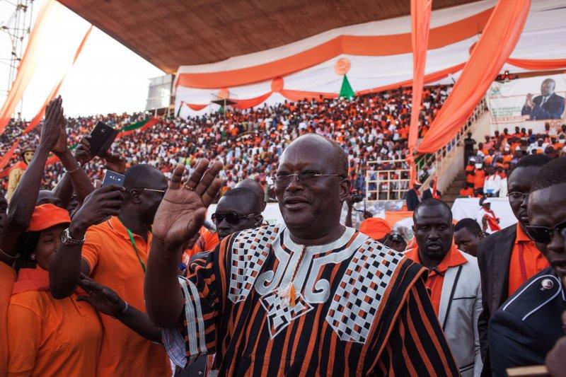 西非國家布吉納法索(Burkina Faso)29日舉行總統和國會選舉,總統候選人卡波雷(Roch Marc Christian Kabore)(美聯社)