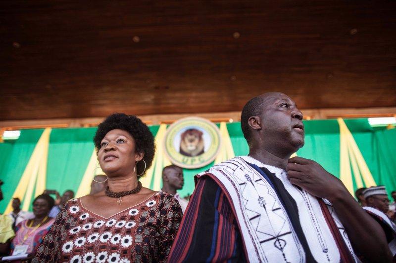 西非國家布吉納法索(Burkina Faso)29日舉行總統和國會選舉,總統候選人迪亞布雷(Zephirin Diabre)(美聯社)