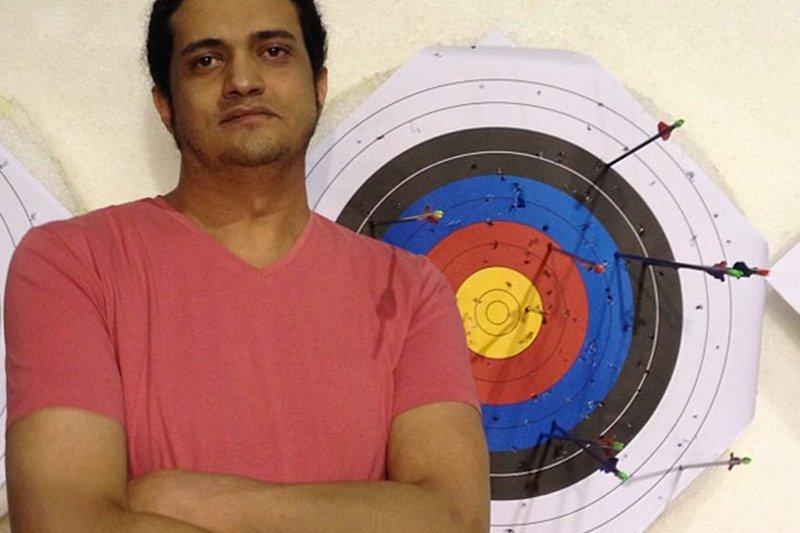 巴勒斯坦詩人法雅德(Ashraf Fayadh)(美聯社)