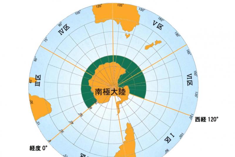 標示為綠色部分是日本這次南極捕鯨的作業範圍。