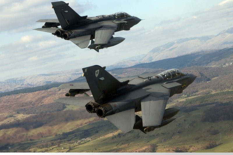 英國皇家空軍的龍捲風戰機(Tornado)。(英國皇家空軍網站)