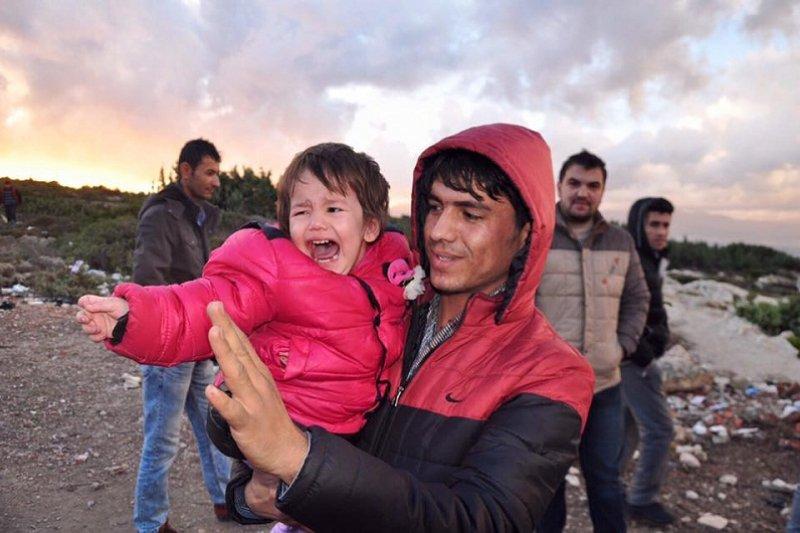 孩子,是一無所有的難民唯一僅存的希望。(來源:文茜世界周報)
